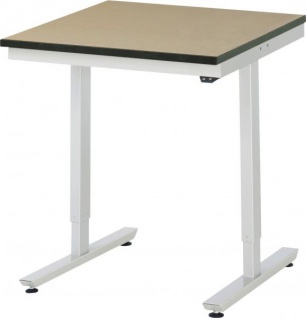 Arbeitstisch adlatus 150 höhenverstellbar mit MDF-Platte - Vorschau 1