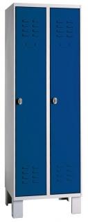Garderobenschrank Spind Kleiderschrank 1800x600x500 mm HxBxT 2-abteilig 08/82-SA