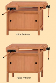 Anke Kinderhobelbank Modell 40 höhenverstellbar 920x540x640/760 LxTxH
