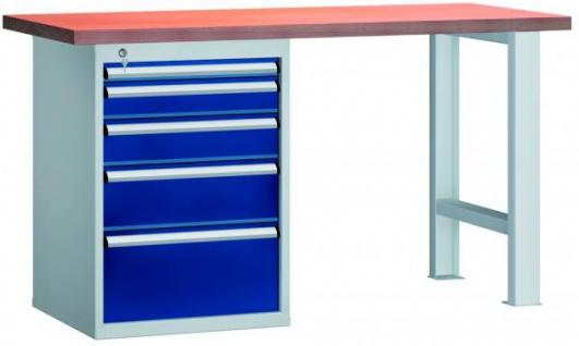 Werkbank mit 5 Schubladenschrank E0805