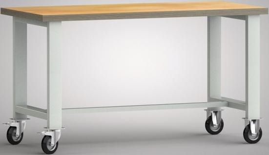 Werkbank fahrbar ohne Schiebebügel 2000x700x840 mm zerlegt WS885N-2000M40-X7000