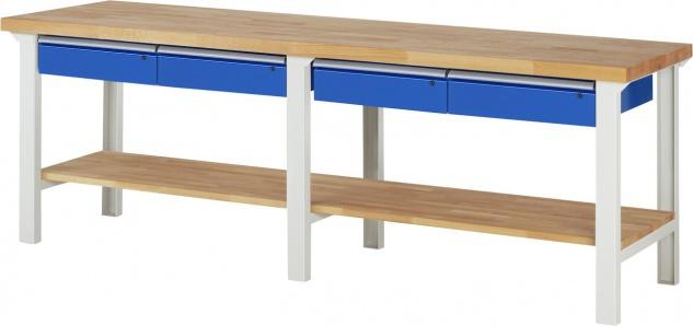 RAU Werkbank Arbeitstisch Packtisch 2500x700x840 mm LxTxH Serie 7000