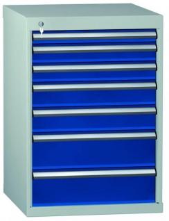 Schubladenschrank 800x725x605 mm HxBxT mit 7 Auszügen SGA0800-07EP-001