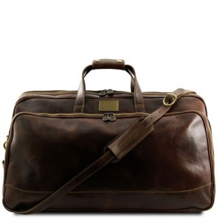 Tuscany Leather Bora Bora - Trolley - Ledertasche - Gross Dunkelbraun