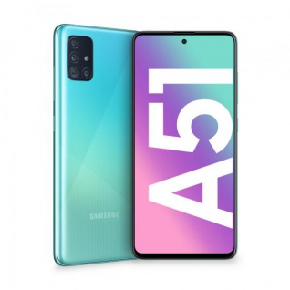 "Samsung Galaxy A51 SM-A515F 4+128GB 6.5"" Prism Crush Blue DS ITA"