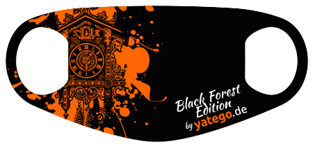 """yatego Basics Mundmaske / Gesichtsmaske """"Black Forest Edition / Cuckoo Splash"""" - Farbvarianten - Vorschau 2"""