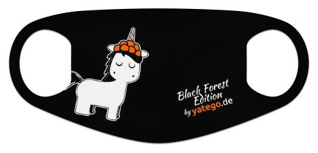 "yatego Basics Mundmaske / Gesichtsmaske ""Black Forest Edition / Einhorn"" - Farbvarianten"
