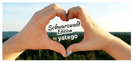 """yatego Basics Mundmaske / Gesichtsmaske """"Schwarzwald Edition Love"""" - Größen für Erwachsene & Kinder"""