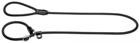 Hunter Retriever-Leine Freestyle 10/120 mit Stoppring, Tau schwarz