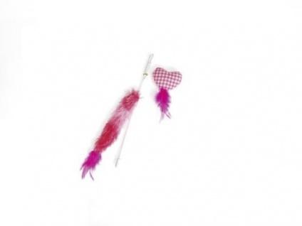 Karlie Katzenspielzeug Plüschangel Herz pink *