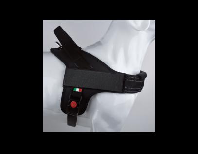 Tre Ponti Geschirr Linea Flash schwarz verstellbarer Bauchgurt 60 - 75 cm bis ca 10 - 20 kg