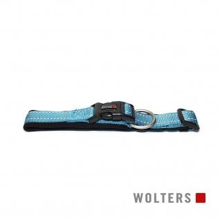 Wolters Halsband Soft & Safe reflektierend 55-60cm x 35mm aqua/schwarz