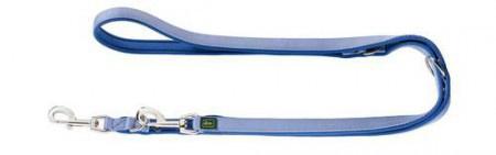 Hunter Verstellbare Führleine Neopren 20/200 Nylon blau/Neopren blau