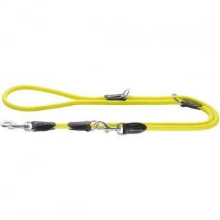 Hunter Verst. Führleine Freestyle Neon 10/200 Tau gelb