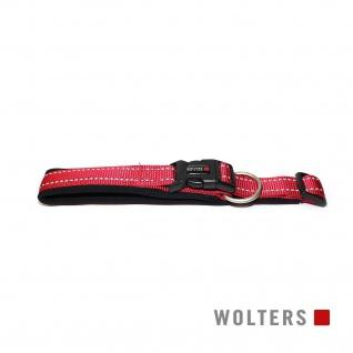 Wolters Halsband Soft & Safe reflektierend 55-60cm x 35mm cayenne/schwarz