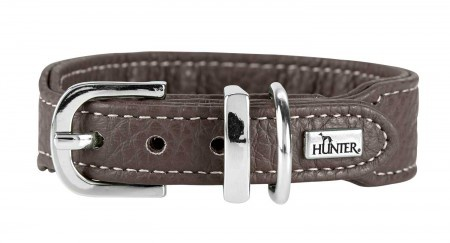 Hunter Halsband Cannes Mini, 32 braun, Leder