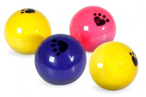 Karlie 4er Set Pingpong Spielbälle für Katzen 4 cm