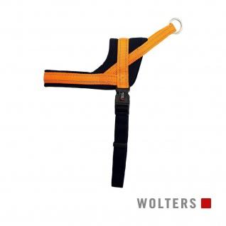 Wolters Geschirr Soft & Safe reflektierend Gr.3 55-65cm orange/schwarz