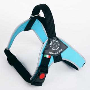 Tre Ponti Geschirr Brio hellblau reflektierender Rand 80 - 100 cm bis ca 30 - 40 kg
