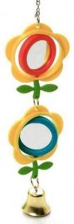Karlie Vogelspielzeug Spiegel mit Glocke ca. 28 cm