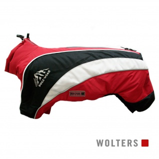 Wolters Skianzug Dogz Wear mit wasserdichtem RV 60cm rot/schwarz