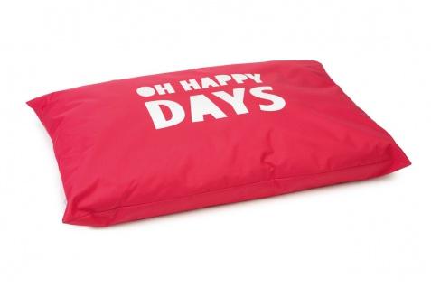 Beeztees Hundekissen Happy Days Rot 100x70cm, Nylon
