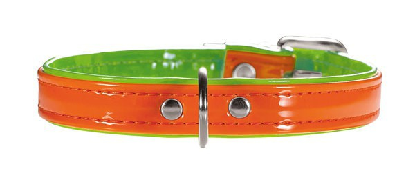 Hunter Halsband Modern Art Neon 37/13 orange/grün, 28, 0-33, 5 cm
