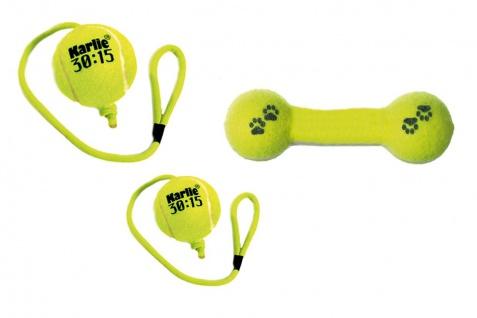 Karlie Hunde Tennisspielzeug 30:15 Ball oder Hantel