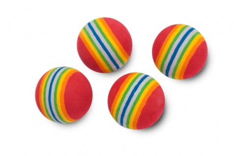 Karlie Spielbälle Soft Rainbow 4 St. im Beutel 4 cm