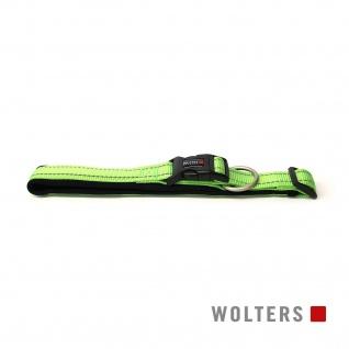 Wolters Halsband Soft & Safe reflektierend 55-60cm x 35mm lime/schwarz
