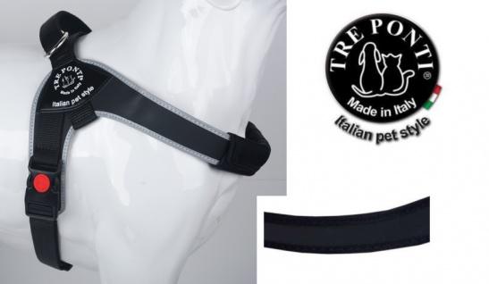 Tre Ponti Geschirr Brio schwarz schwarzer Rand 80 - 100 cm bis ca 30 - 40 kg