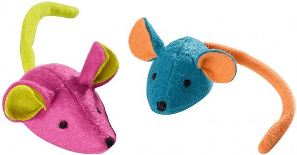 Hunter Katzenspielzeug Set Mice 2 Mäuse mit Katzenminze