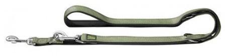 Hunter Verstellbare Führleine Neopren 20/200 Nylon oliv/Neopren schwarz