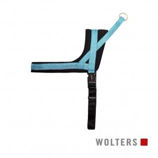 Wolters Geschirr Soft & Safe reflektierend Gr.1 45-55cm aqua/schwarz