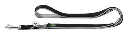 Hunter Verstellbare Führleine Neopren 15/200 Nylon schwarz/ Neopren grau