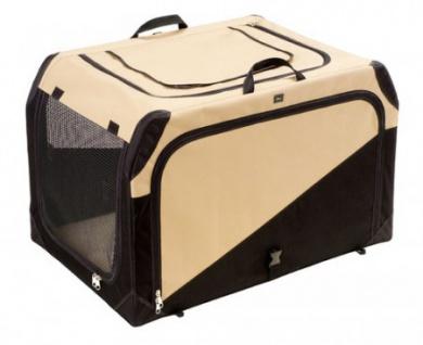 Hunter Hundetransportbox Gr. M beige/schwarz