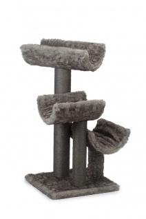 Beeztees Kratzbaum Baluc, Grau 60x60x115cm
