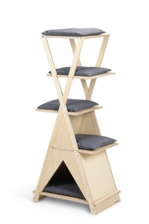 Beeztees Kratzbaum Holz Mirza, 60x40x135cm