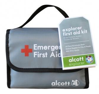 Alcott Erste Hilfe-Set in grau Hund Katze Verbandskasten Zeckenzange