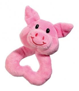 Karlie Welpenspielzeug Puppy Love Frosch, Ente, Schwein oder Kuh 14 cm