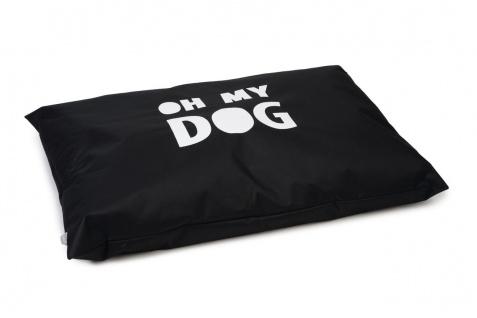 Beeztees Hundekissen Oh My Dog, Schwarz100x70cm, Nylon