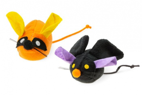 Katzenspielzeug Halloween Maus L: 7 cm B: 3, 5 cm H: 3, 5 cm