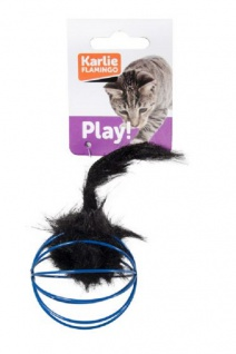 Karlie Katzenspielzeug Gitterball mit Plüschmaus 5 cm