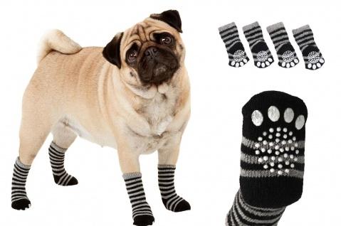 Karlie Hundesocken Sockies schwarz-grau 4er Pack versch. Größen