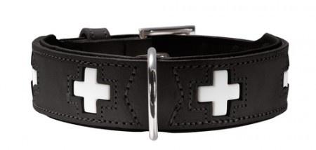 Hunter Halsband Swiss nickel Gr.37 Ökoleder schwarz/Nappa schwarz