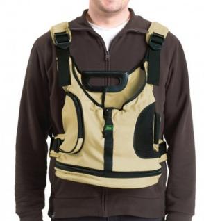 Hunter Kangaroo Tasche beige/schwarz