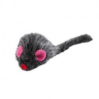 Hunter Katzenspielzeug Plüschmaus, 5 cm schwarz/braun mit Catnip
