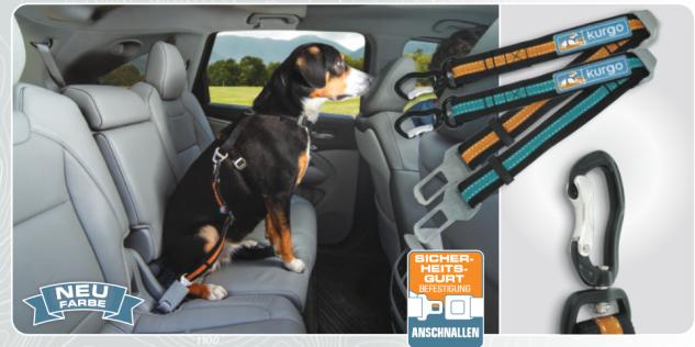 Kurgo Direct to Seatbelt Swivel Tether Autogurt Gurtverlängerung