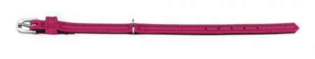 Hunter Halsband Tiny petit Gr.24 nickel Nappaleder pink/Nappaleder schwarz