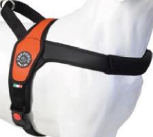 Tre Ponti Geschirr Primo Fluo mit schwarzem Rand orange 50 - 65 cm bis ca. 10 - 20 kg